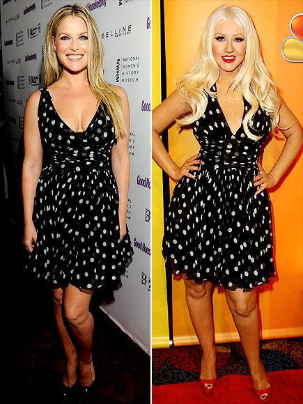 Ali Larter v Christina Aguilera in polka dot dress