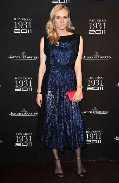 Diane Kruger in Navy lace dress by Vionnet