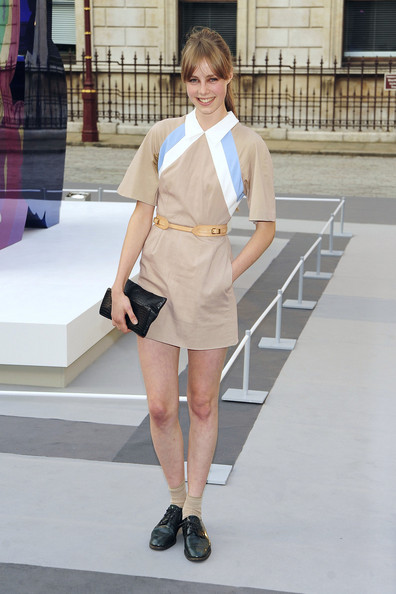 Edie Campbell in Jonathan Saunders dress