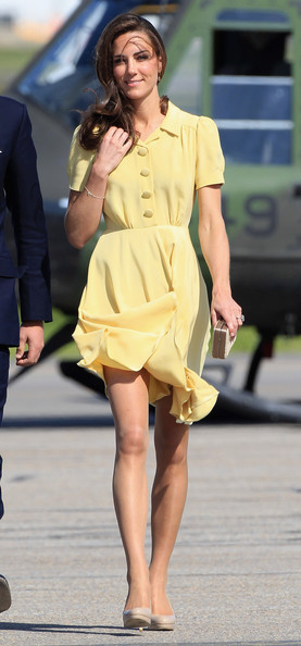 Kate Middleton in Yellow Jenny Packham dress