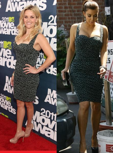 Reese Witherspoon Vs Kim Kardashian in Zac Posen