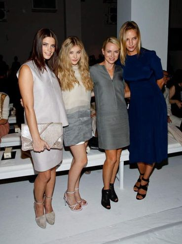 Ashley Green, Chloe Moretz, Naomi Watts and Uma Thurman at Calvin Klein show+New York Fashion Week 2011