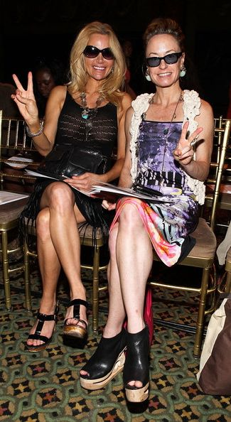 Leesa Rowland and Robin Cofer at Guli show+New York Fashion Week 2011