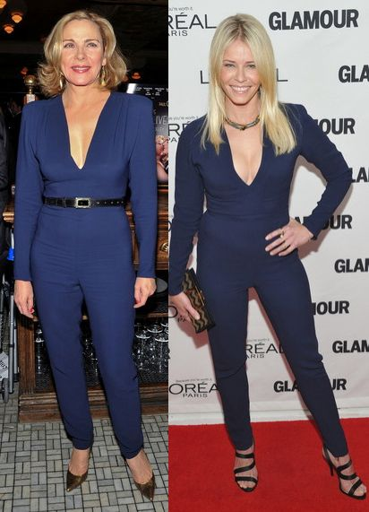Kim Cattrall vs Chelsea Handler in Stella McCartney+Navy jumpsuit