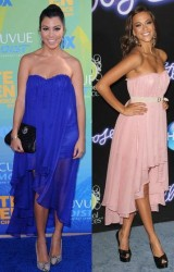 Kourtney Kardashian vs Jana Kramer in Blaque Label+Chiffon dress