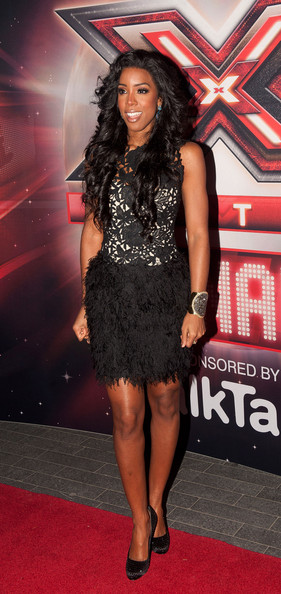 Kelly Rowland survives the boot in feathers & lace