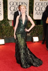 Evan Rachel Wood in a custom made Gucci Premiere gown