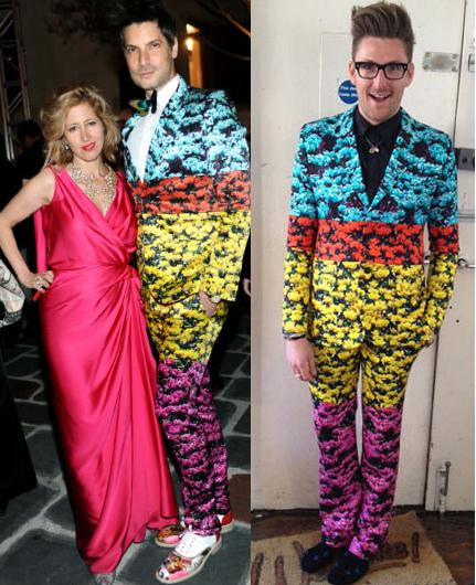 Cameron Silver vs Henry Holland in Mary Katrantzou+Floral Suit