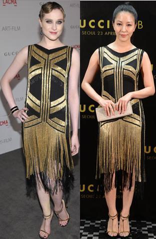 Evan Rachel Wood vs Boa in Gucci+Flapper Dress