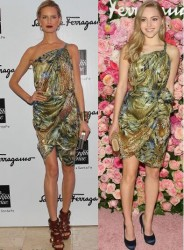 Karolina Kurkova vs AnnaSophia Robb in Salvatore Ferragamo+One Shoulder Dress