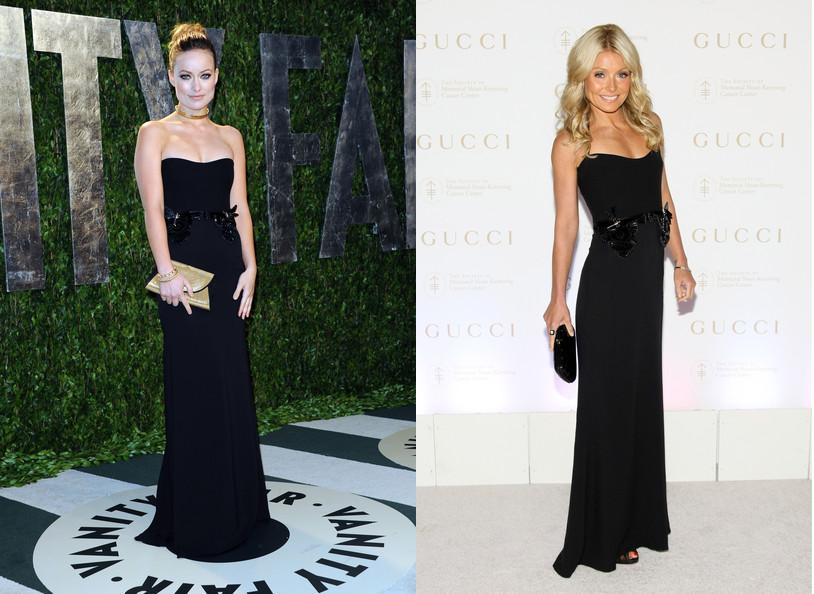 Olivia Wilde vs Kelly Ripa in Gucci+Black dress