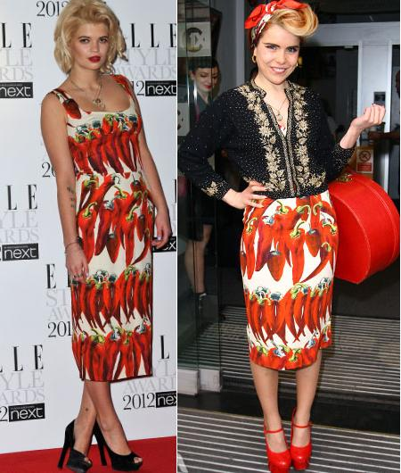 Pixie Geldof vs Paloma Faith in Dolce & Gabbana+Chilli Print Dress