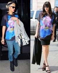 Rihanna vs Liv Tyler in Givenchy+Iris T-shirt