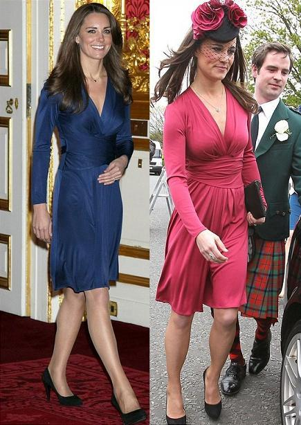 Kate Middelton vs Pippa Middleton in Issa+wrap dress