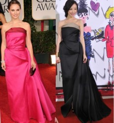 Natalie Portman vs Ni Ni in Lanvin+evening gown