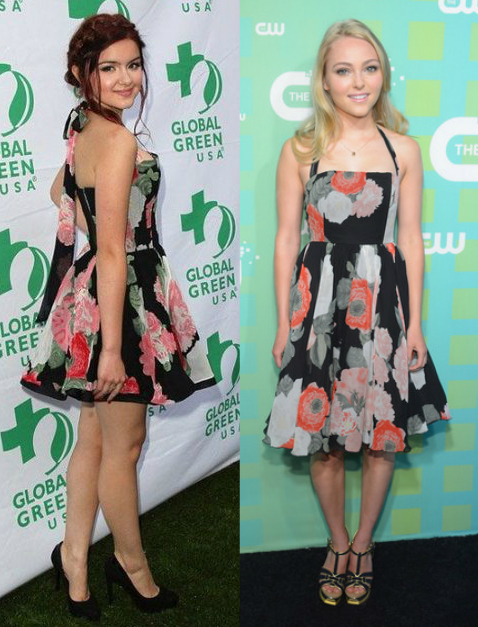 Ariel Winter Vs AnnaSophia Robb in Alice + Olivia+Floral dress