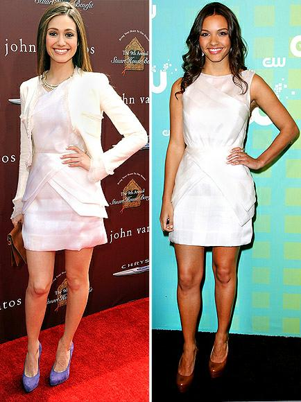 Emmy Rossum vs Jessica Lucas in Katharine Kidd+white dress