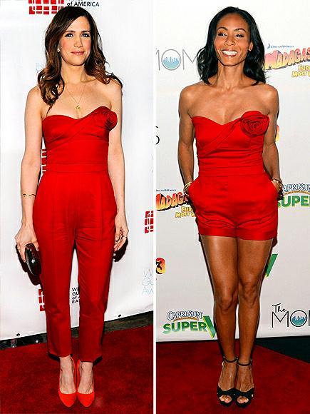 Kristen Wiig vs Jada Pinkett Smith in Valentino+red jumpsuit