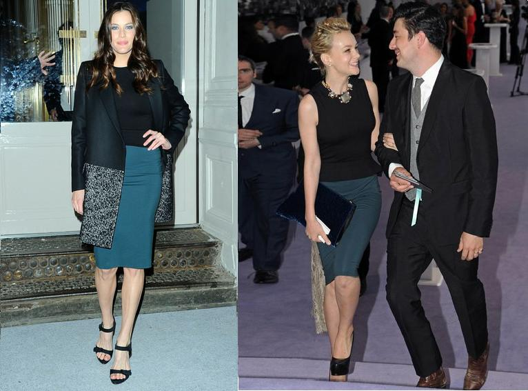 Liv Tyler vs Carey Mulligan in Stella McCartney+Peplum dress