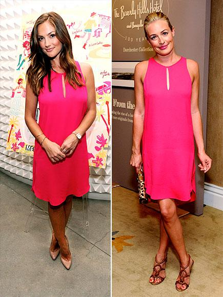 Minka Kelly vs Cat Deeley in 3.1 Phillip Lim+pink shift dress