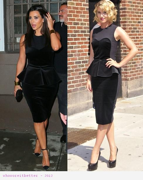 Kim Kardashian vs Diane Argon in Stella McCartney+peplum dress