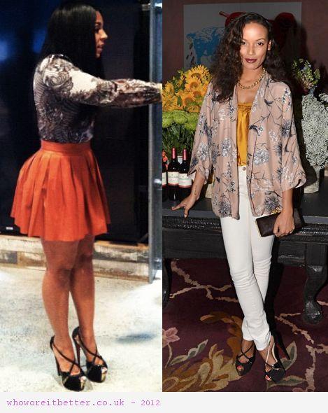 Selita Ebanks vs Ashanti in Christian Louboutin+black shoes