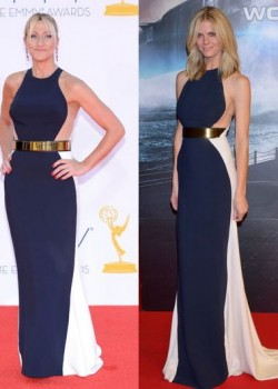 Edie Falco vs Brooklyn Decker in Stella McCartney+Navy panel dress