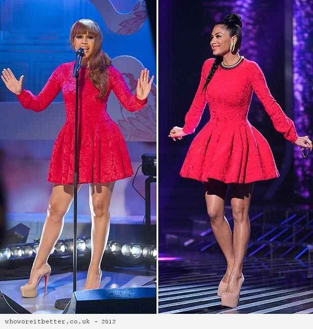 Rebecca Ferguson vs Nicole Scherzinger in Alexander McQueen+Red Lace Dress