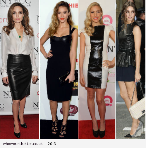 Angelina Jolie, Jessica Alba, Kristin Cavallari or Olivia Palermo+Leather