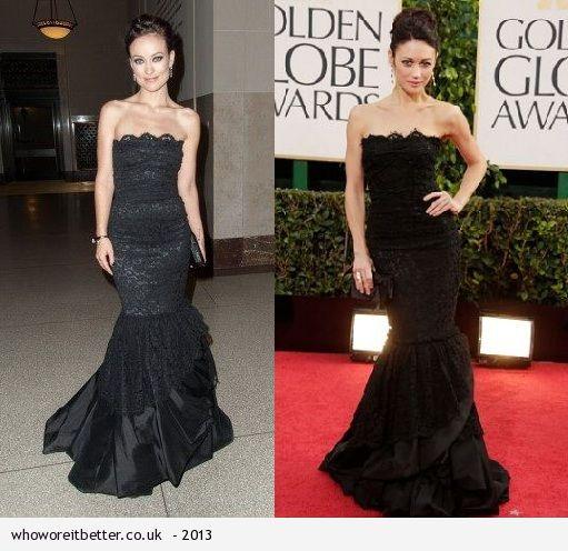 Olivia Wilde vs Olga Kurylenka in Dolce & Gabbana