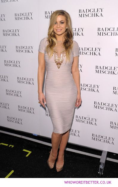Carmen Electra in Badgley Mischka