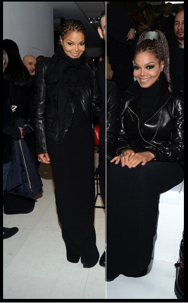 Janet Jackson Versace Front Row AW13
