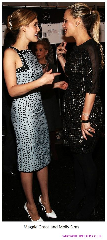 Maggie Grace and Molly Sims+Carolina Herrera Day 4 at NYFW