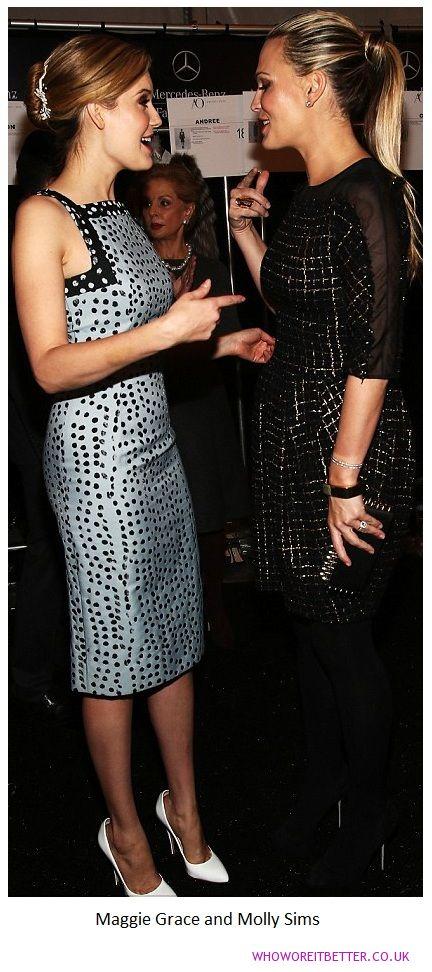 Maggie Grace and Molly Sims+Carolina Herrera Day 4 at NYFW