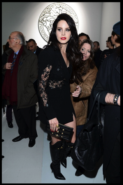 lana Del Ray At Versace Show Milan Fashion Week