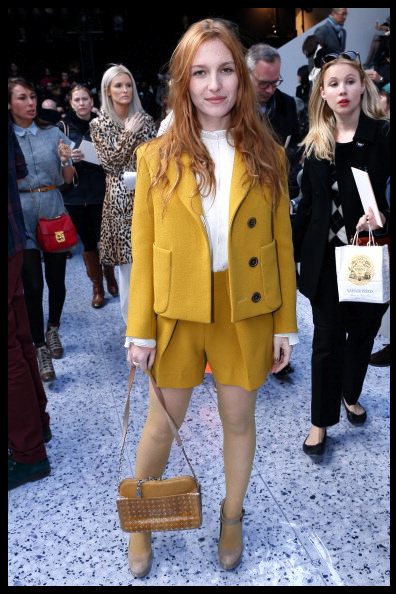 Josephine De La Baume at the Chloé show