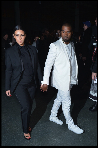 Kim Kardashian and Kanye West were seen at the Givenchy show