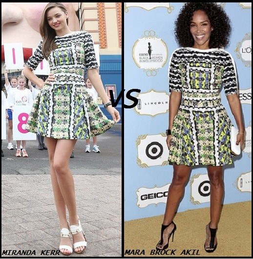 Miranda Kerr vs Mara Brock Akil in Peter Pilotto
