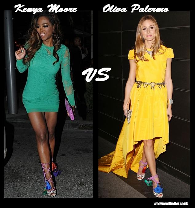 Kenya Moore vs Olivia Palermo in Jimmy Choo