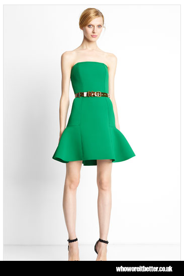 Lanvin Strapless Piqué Dress