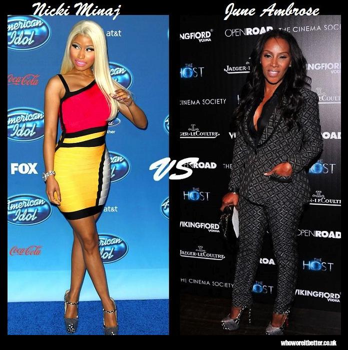 Nicki-Minaj-vs-June-Ambrose-in-Christian-Louboutin