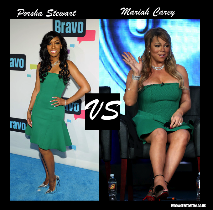 Porsha Stewart vs Mariah Carey in Lanvin