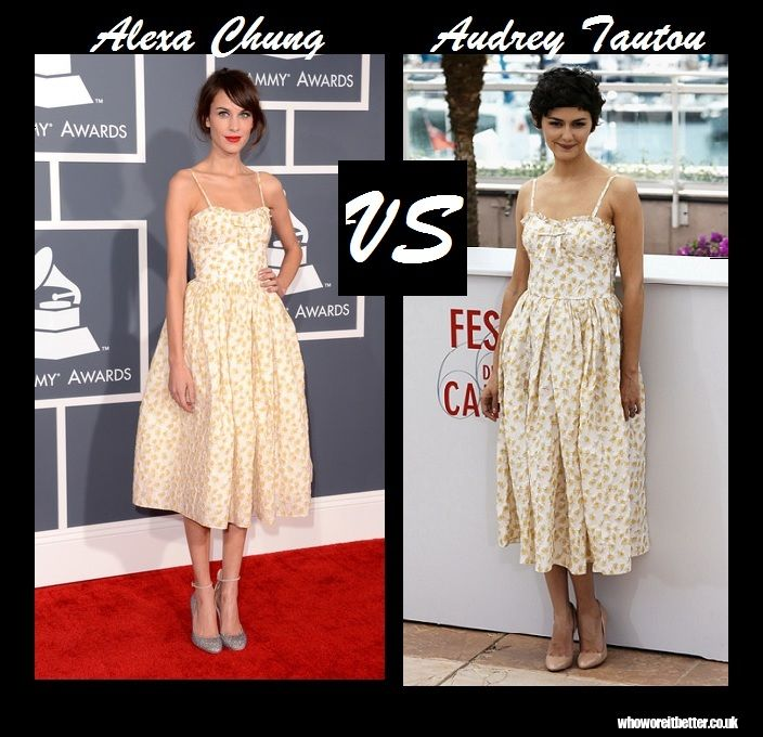 Alexa Chung vs Audrey Tautou in Red Valentino