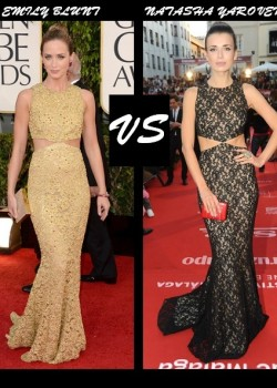 Emily Blunt vs Natasha Yarovenko in Michael Kors