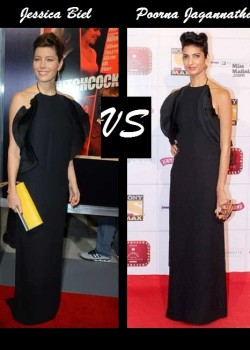 Jessica Biel vs Poorna Jagannathan in Gucci RTW