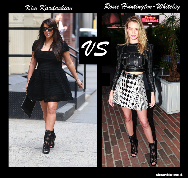 Kim Kardashian vs Rosie Huntington-Whiteley in Balmain