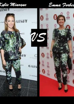 Kylie Minogue vs Emma Forbes in Dole &amp; Gabbana Spring 2013