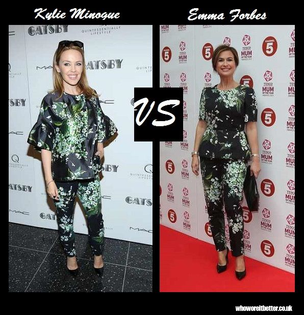 Kylie Minogue vs Emma Forbes in Dolce & Gabbana