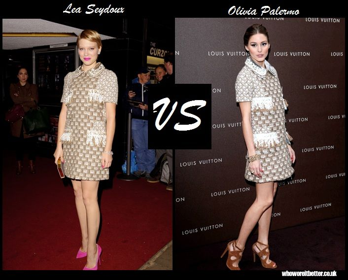 Lea Seydoux vs Olivia Palermo in Louis Vuitton