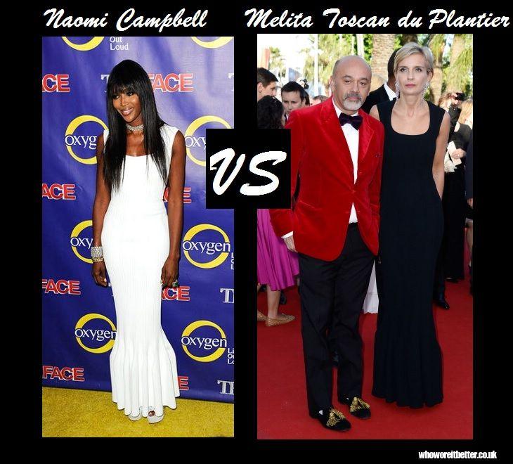 Naomi Campbell vs Melita Toscan du Plantier in Azzedine Alaïa